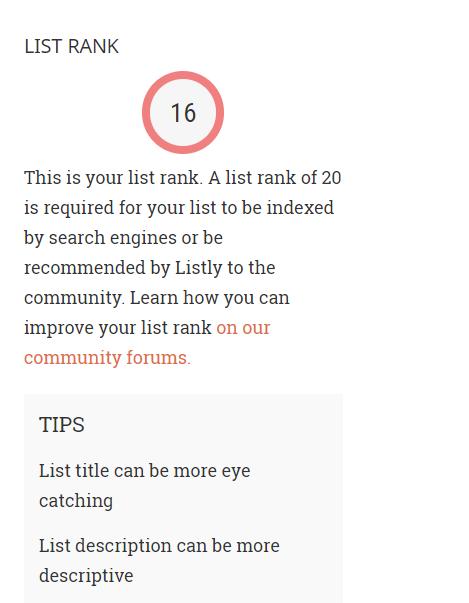 List Rank image