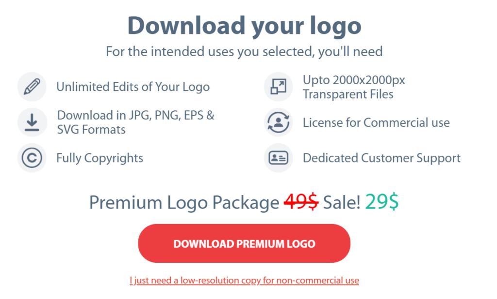 OnlineLogoMaker price