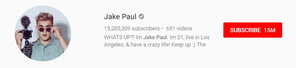 Jake Paul YouTube Channel