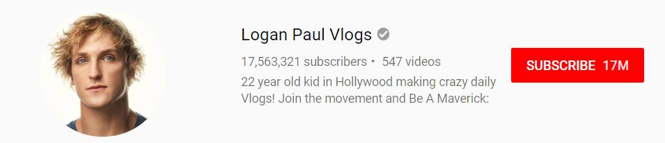 Logan Paul YouTube Channel