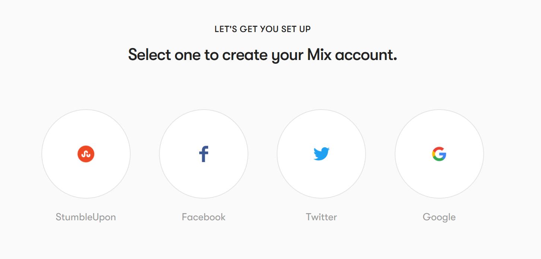 Mix registration options