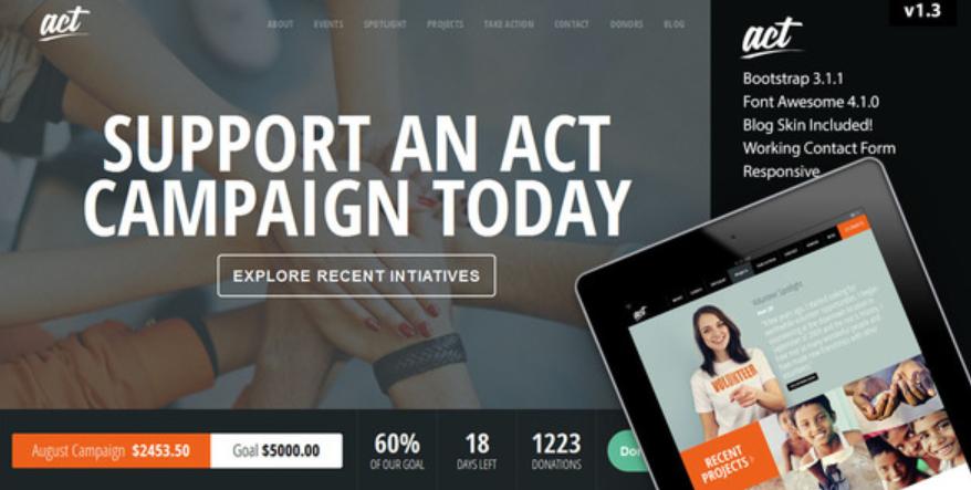 Act WordPress theme