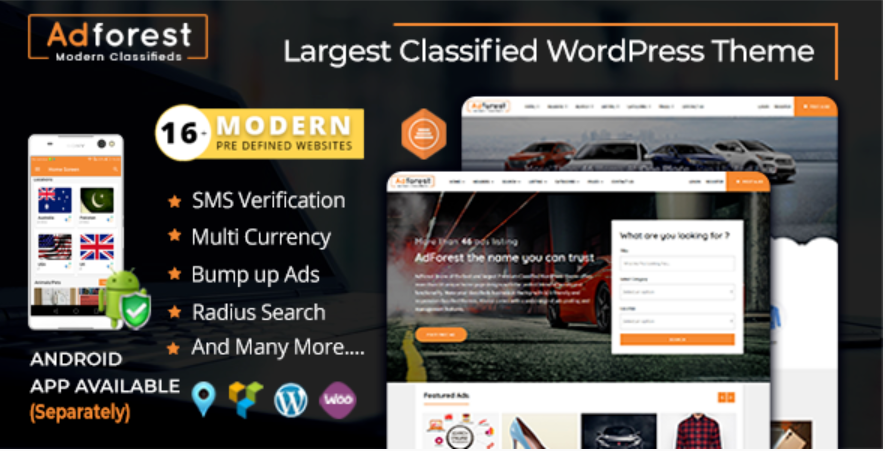 Adforest WordPress theme
