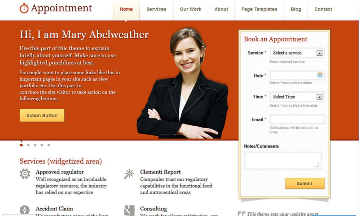 Appointment WordPress Theme