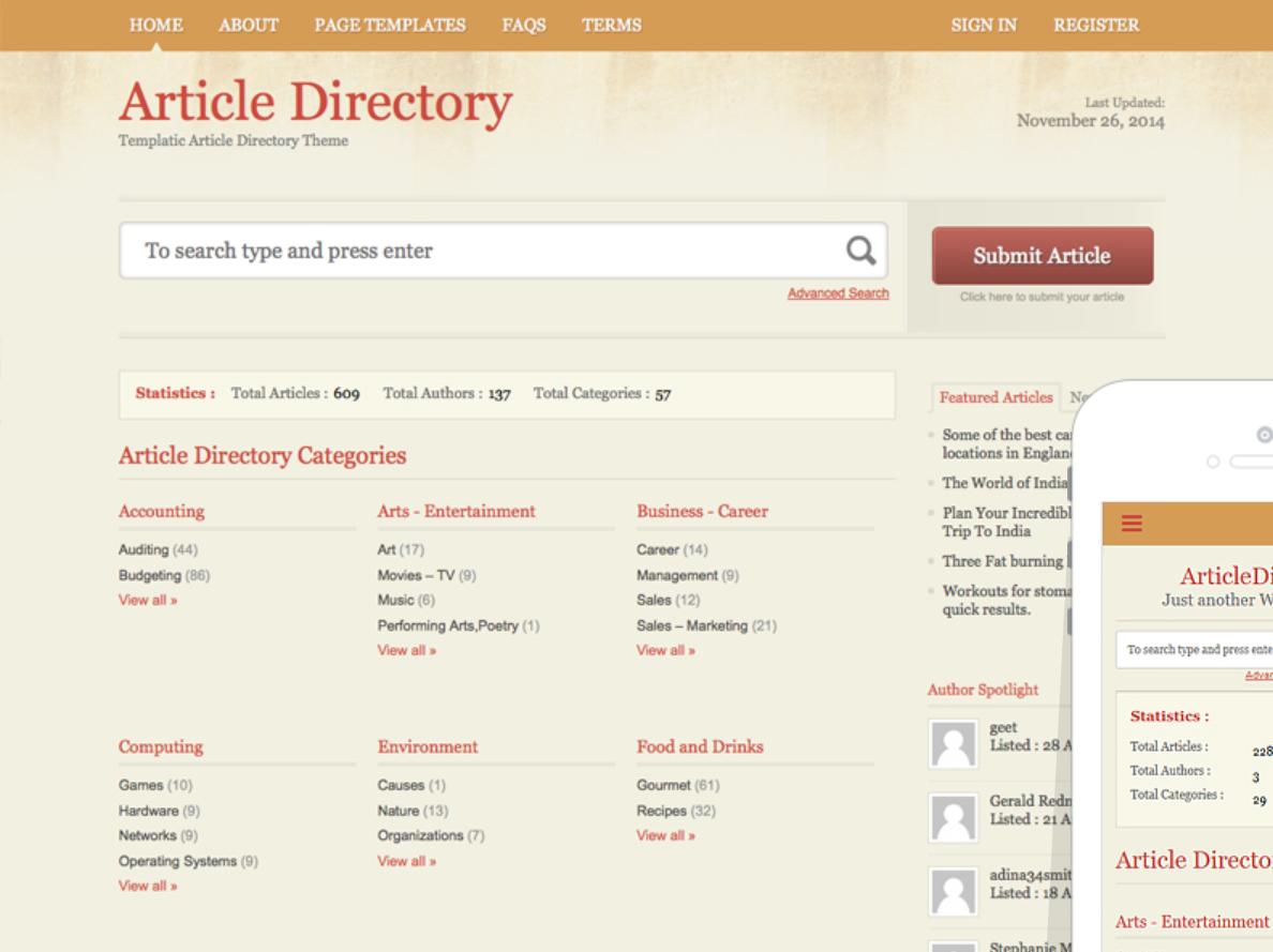 ArticleDirectory WordPress Theme