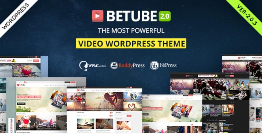 BETUBE WordPress theme