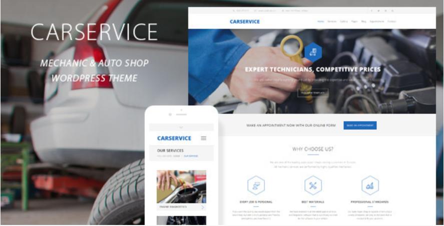 CarService WordPress theme
