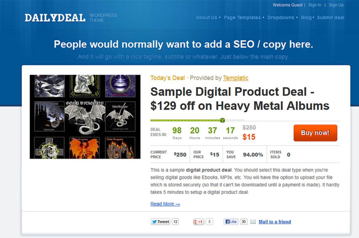 DailyDeal WordPress Plugin