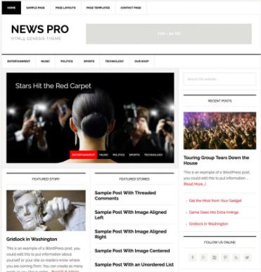 NewsPro WordPress Theme
