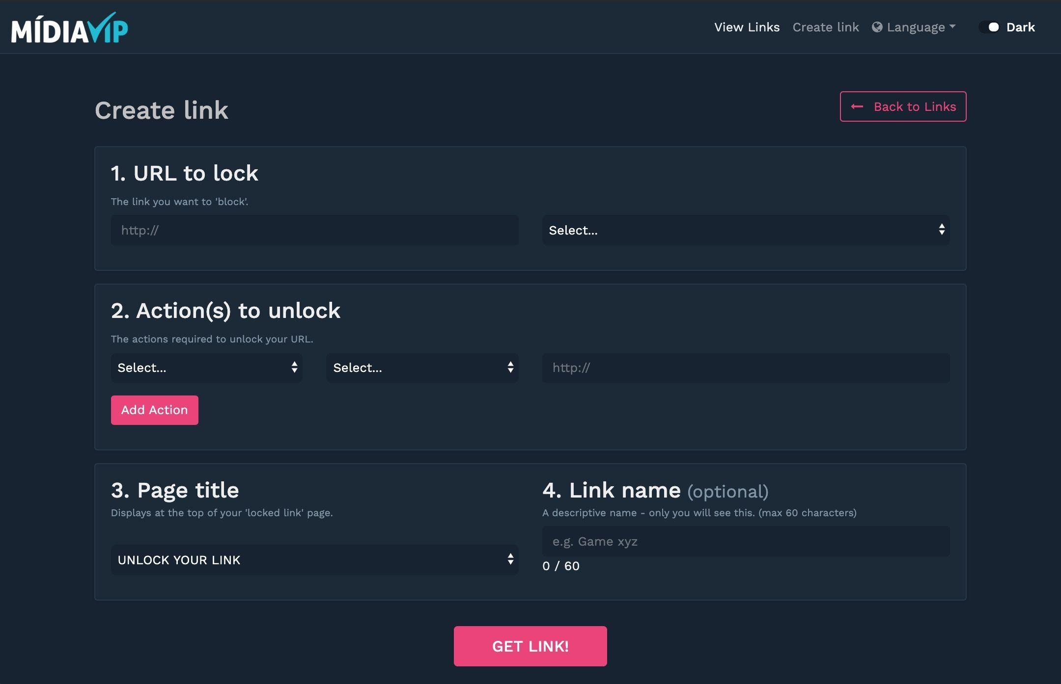 Midia VIP URL Link blocker shortener